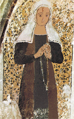 Saint Rita of Cascia, peacemaker, Church of Saint Francis, Cascia, Italy.